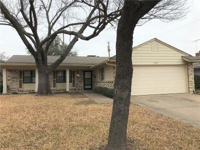 Irving Single Family Home Active Option Contract: 2521 Chevy Chase Drive