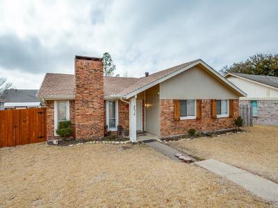 Garland Single Family Home Active Option Contract: 4614 Redwood Drive