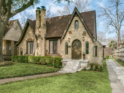 Dallas, Fort Worth Single Family Home Active Option Contract: 5455 Monticello Avenue