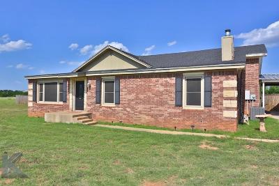 Abilene Single Family Home For Sale: 1009 Fm 89