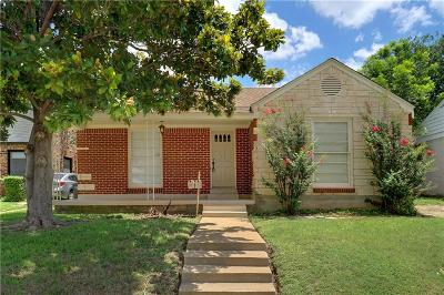Fort Worth Single Family Home For Sale: 2529 Forest Park Boulevard