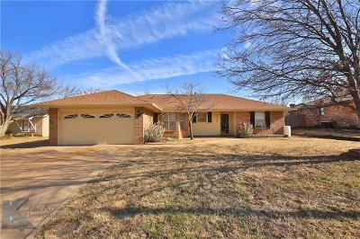Abilene Single Family Home For Sale: 7933 Hearne Drive