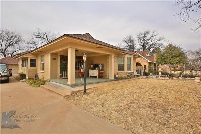 Abilene Single Family Home For Sale: 1324 Amarillo Street