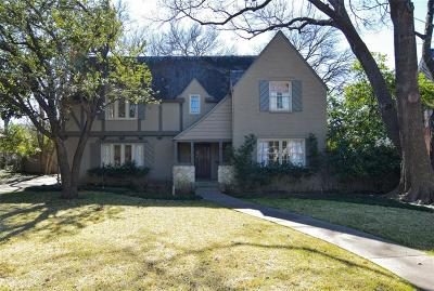 Dallas TX Single Family Home For Sale: $1,499,999