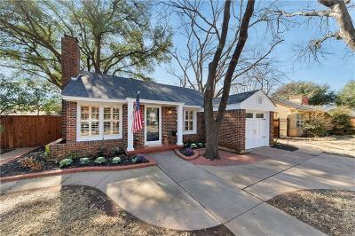 Fort Worth TX Single Family Home For Sale: $305,000