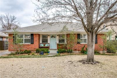 Dallas Single Family Home Active Option Contract: 7229 Clemson Drive
