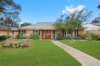 Dallas Single Family Home Active Option Contract: 10312 Vistadale Drive