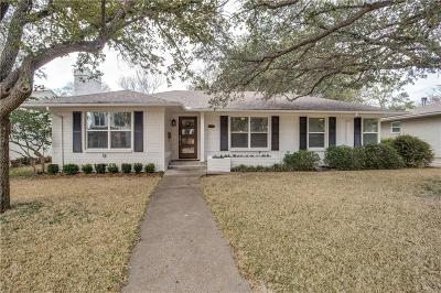 Dallas Single Family Home Active Option Contract: 4167 Lively Lane