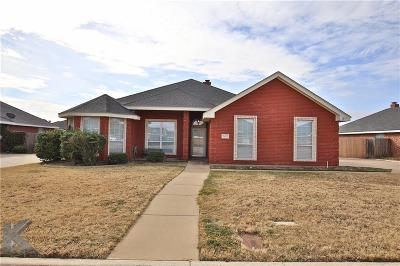 Abilene Single Family Home For Sale: 5425 Willow View Road