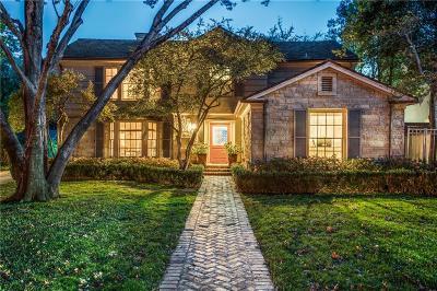 Highland Park, University Park Single Family Home For Sale: 4533 Beverly Drive