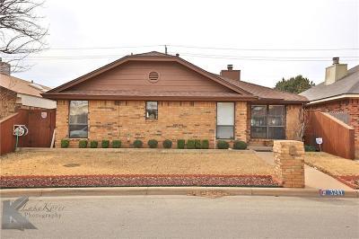 Abilene Single Family Home For Sale: 3241 Chimney Circle