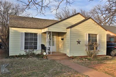 Abilene Single Family Home For Sale: 2864 S 7th Street