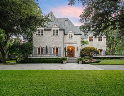 Dallas Single Family Home For Sale: 10095 Strait Lane
