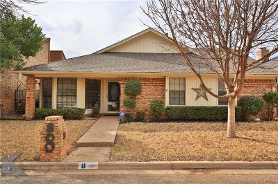 Abilene Single Family Home For Sale: 8 Wynrush Circle