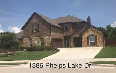Rockwall Single Family Home For Sale: 1386 Phelps Lake Drive