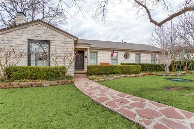 Dallas Single Family Home For Sale: 5645 Bryn Mawr Drive
