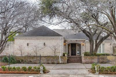 Dallas Single Family Home For Sale: 7739 Southwestern Boulevard