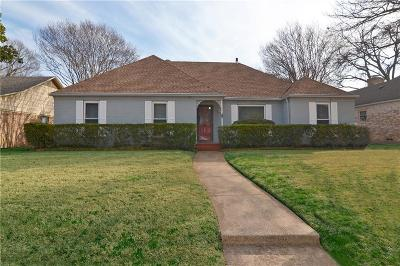 Richardson Single Family Home Active Option Contract: 1303 Comanche Drive