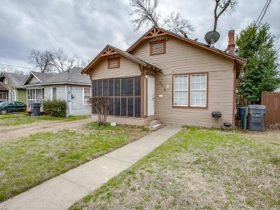 Dallas Single Family Home For Sale: 3815 Wilder Street