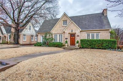 Dallas TX Single Family Home For Sale: $635,000