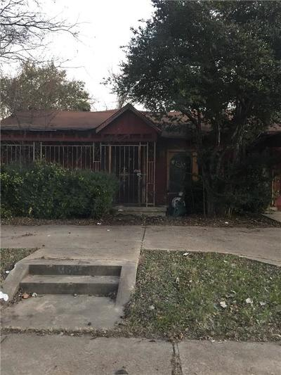Dallas Single Family Home For Sale: 3606 Reese Drive