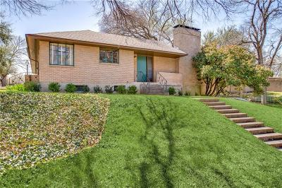 Dallas Single Family Home Active Option Contract: 4707 Clear Creek Road