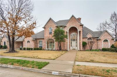 Plano Single Family Home Active Option Contract: 2809 Saint Charles Drive