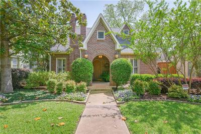 Dallas Single Family Home For Sale: 5310 Vanderbilt Avenue