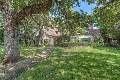 Fort Worth Single Family Home Active Kick Out: 116 Crestwood Drive