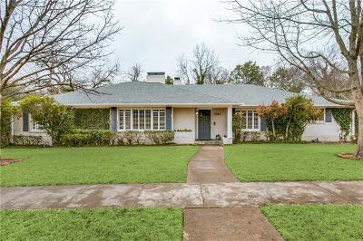 Dallas Single Family Home For Sale: 6934 Alexander Drive