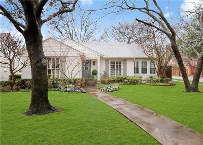 Highland Park, University Park Single Family Home For Sale: 2700 Purdue Avenue