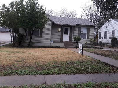 Dallas TX Single Family Home For Sale: $199,000