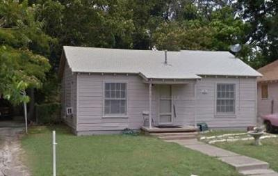 Fort Worth Single Family Home Active Option Contract: 3317 Ada Avenue