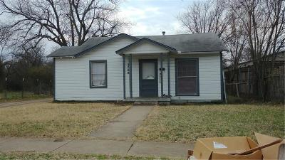Fort Worth Single Family Home Active Option Contract: 3708 Ada Avenue