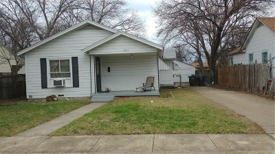 Fort Worth Single Family Home Active Option Contract: 3713 Avenue H