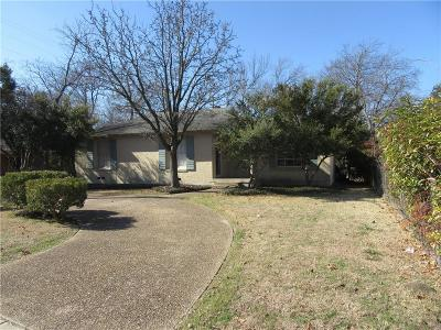 Dallas Single Family Home For Sale: 10711 Stallcup Drive