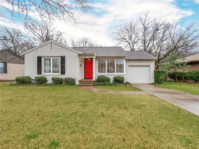 Dallas Single Family Home For Sale: 4114 Saranac Drive