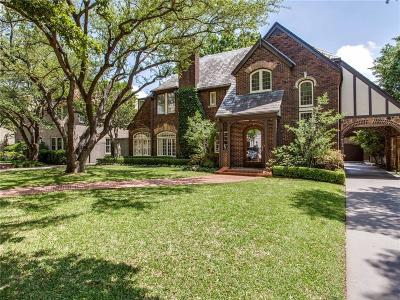 Highland Park Residential Lease For Lease: 4331 Beverly Drive