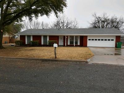 Stephenville Single Family Home Active Option Contract: 1450 Lockwood Street