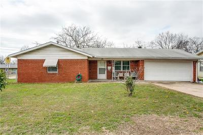 Haltom City Single Family Home Active Option Contract: 3701 Earle Drive