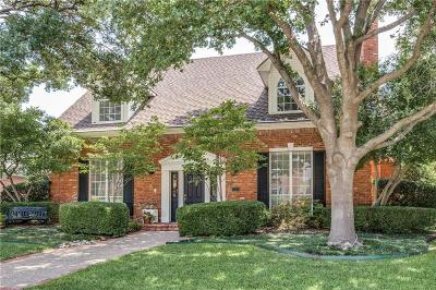 Plano Single Family Home Active Option Contract: 7520 England Drive