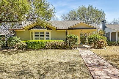 Fort Worth Single Family Home For Sale: 411 Monticello Drive