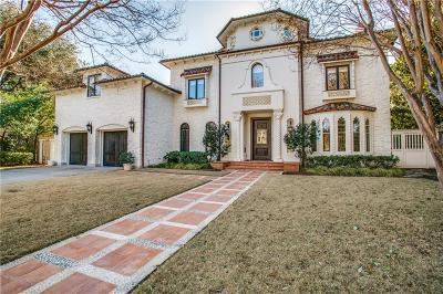 Dallas Single Family Home For Sale: 5522 Nakoma Drive
