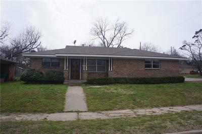 Stephenville TX Single Family Home For Sale: $167,500