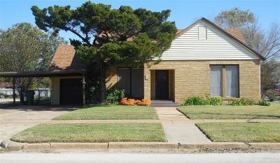 Eastland Single Family Home For Sale: 514 S Seaman Street