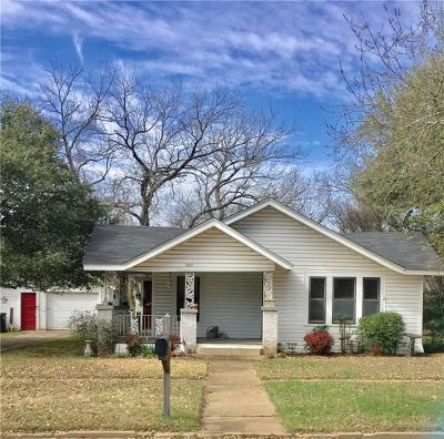 Cleburne Single Family Home Active Option Contract: 302 Bellevue Drive