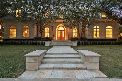 University Park TX Single Family Home For Sale: $4,495,000