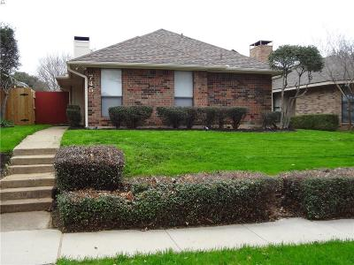 Lewisville Single Family Home Active Option Contract: 745 Red Oak Drive