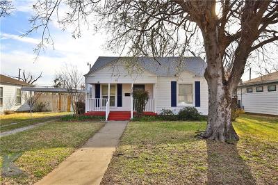 Abilene Single Family Home For Sale: 1825 McCracken Street