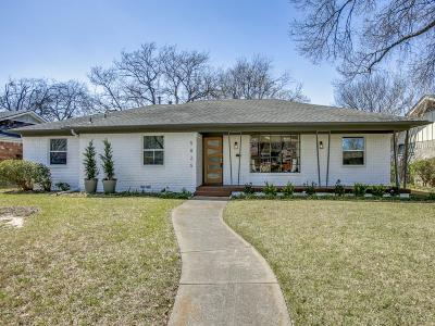 Dallas Single Family Home Active Option Contract: 5825 Elm Lawn Street